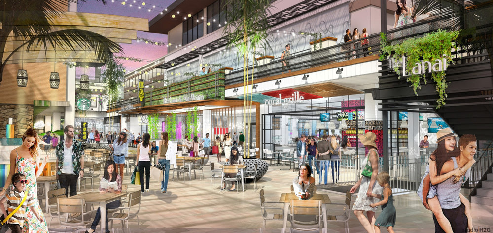 Rendering provided by Ala Moana Center