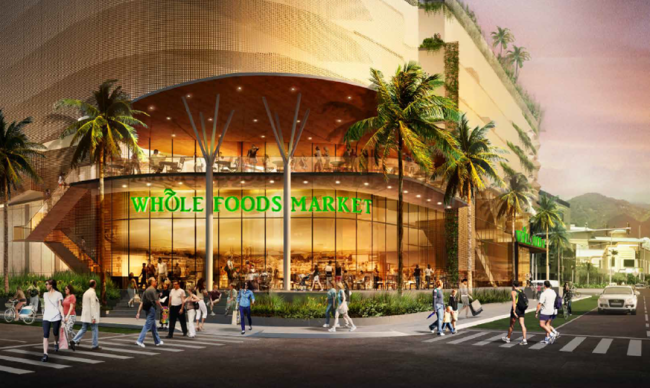 Rendering of Aeo Whole Foods in Ward Village, which will be Hawaii's flagship Whole Foods location.