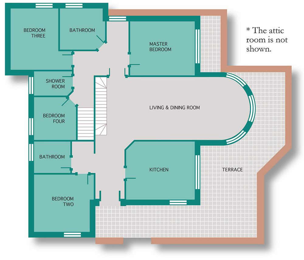 The villa casa anna for Swimming pool floor plan