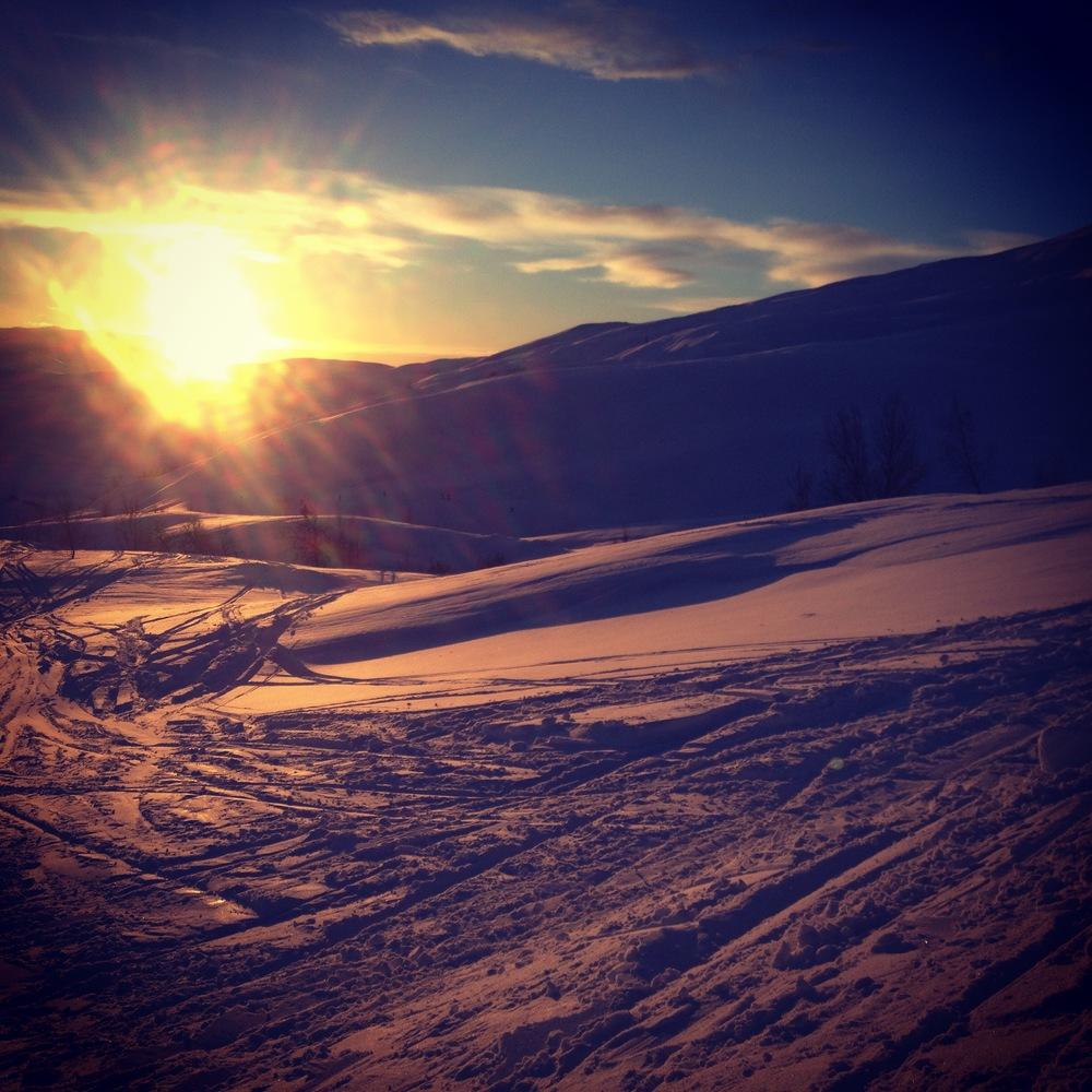 Siste glimt av solen på en god tid. I går Fredag kl 15:15.