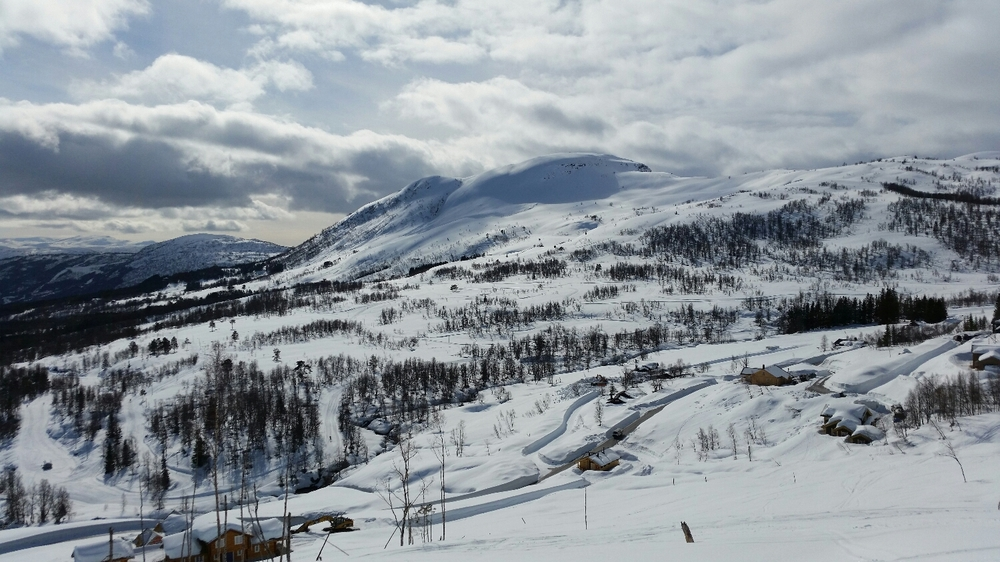 Nye hytter på plass☺ og myke snø
