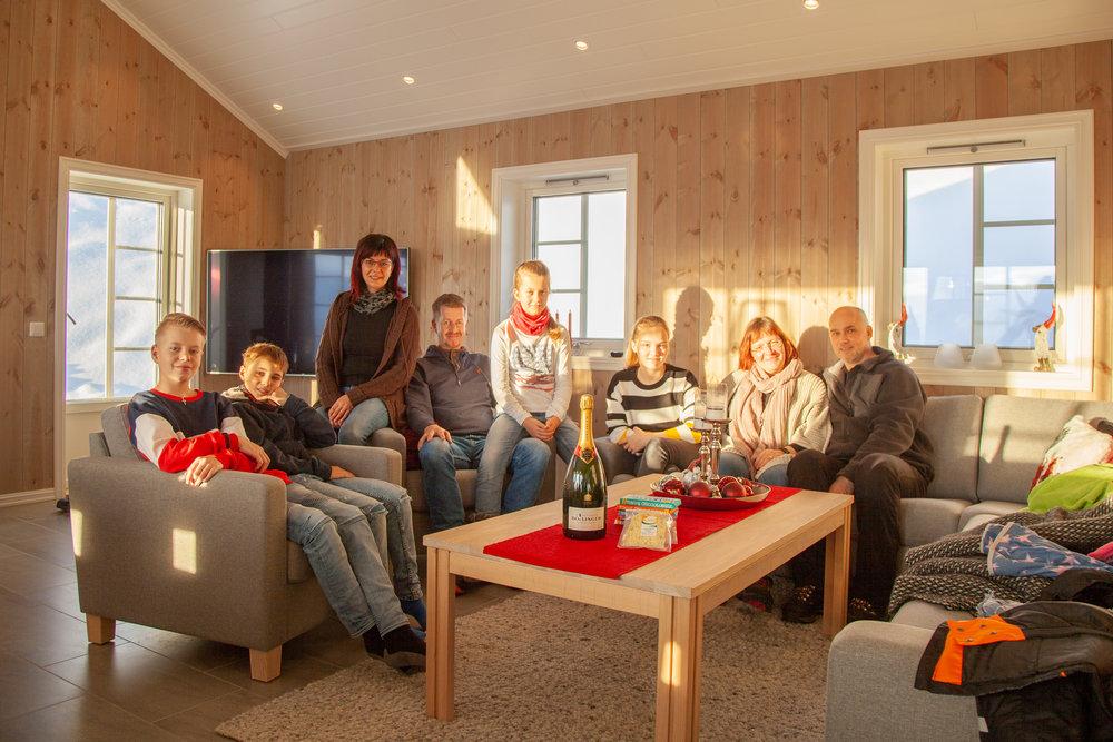 JULEFERIE: Dei kom frå Nederland og Tyskland til jule og nyttårsfeiring i Hodlekve.