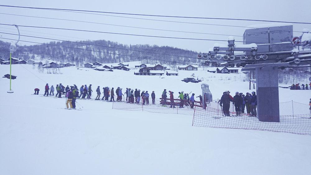 Mykje folk då Rindabotn starta opp for første gang denne sesongen