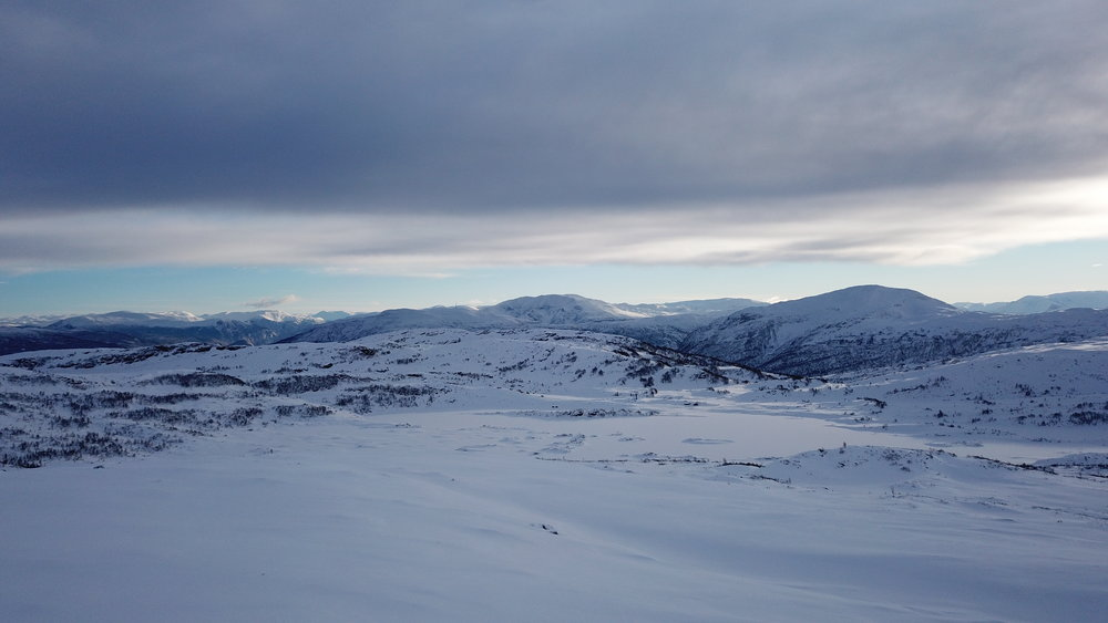 Sjelefred på Høgehaug, utsyn mot Fjærlandsete, Skriki, Bleia og Storhågen.