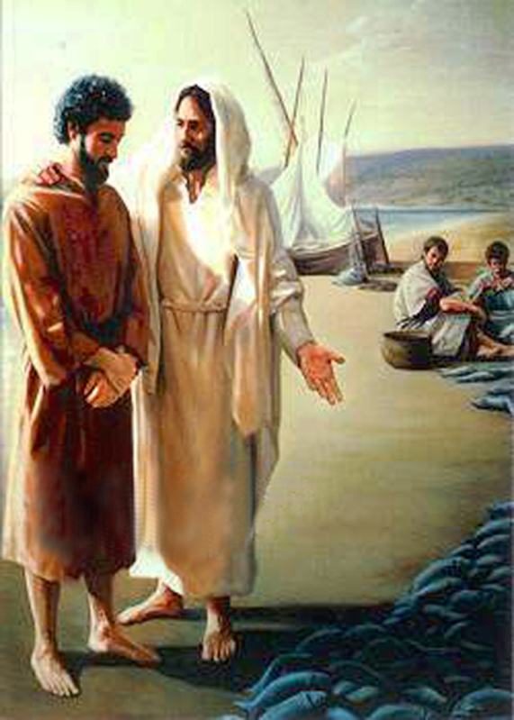 Peter was feeling burdened with guilt. But Jesus met him at the seashore to give him encouragement to begin again.