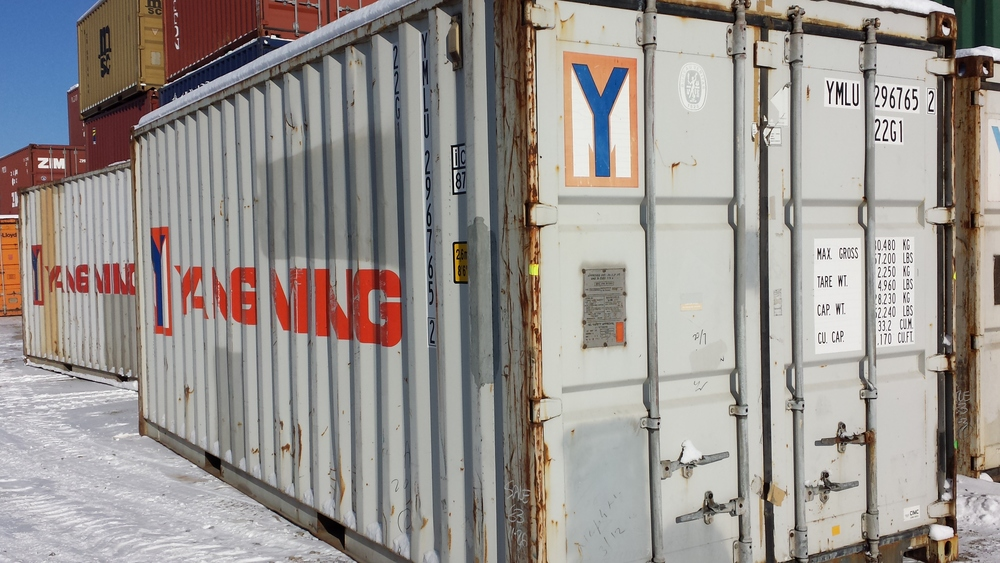 Gray wind and watertight 20' container