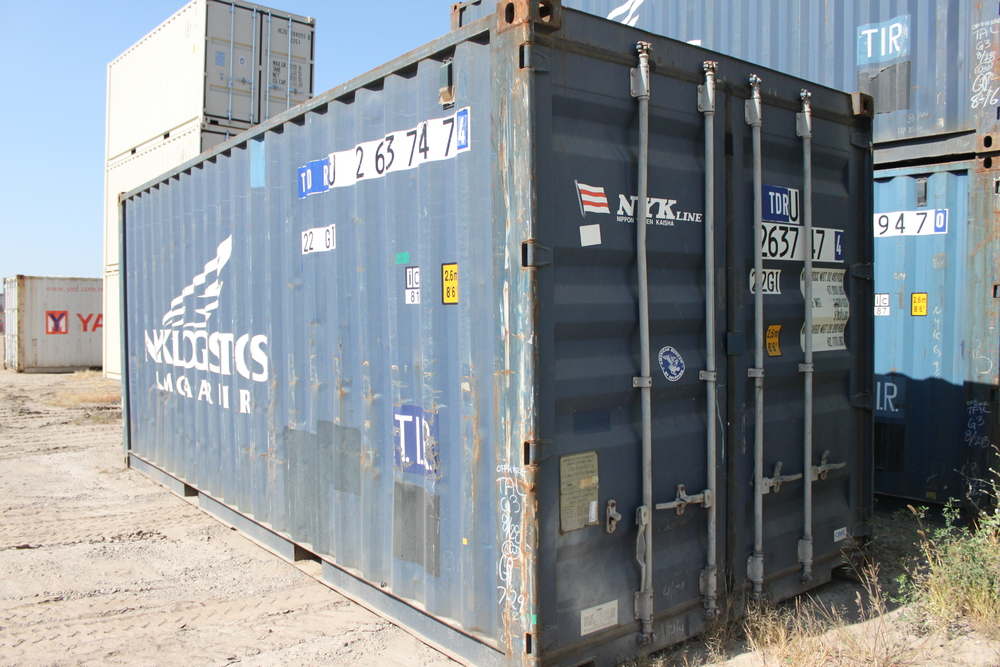 Used wind and water blue 20' container