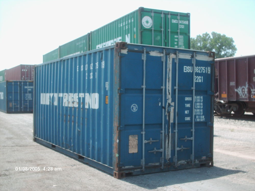 Used blue 20' container