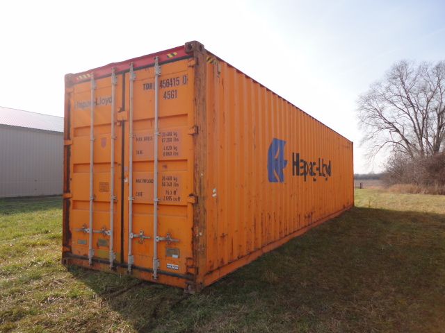 Orange 40' high cube container