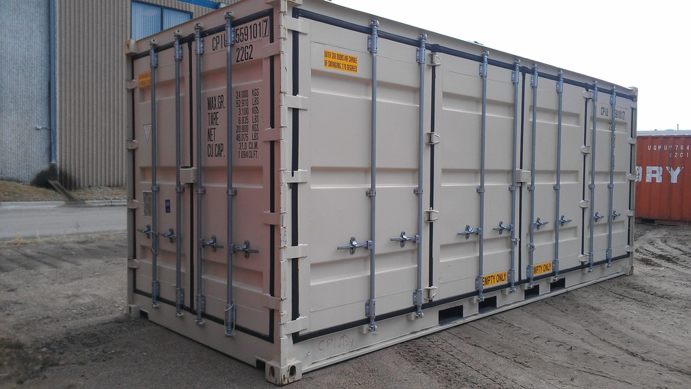 Open-side 20' high cube container