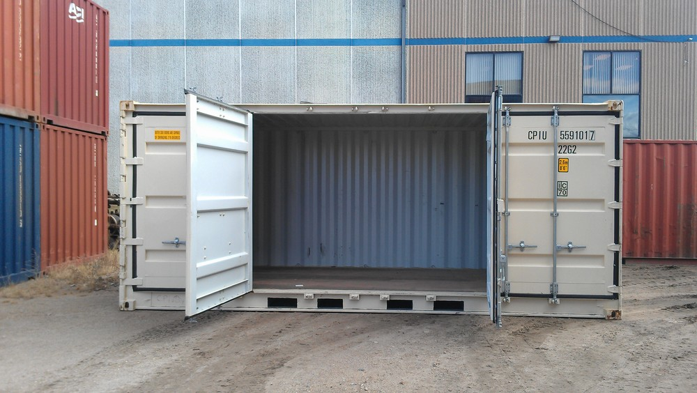 Open-side 20\u0027 with middle doors open & Specialty Shipping Containers \u2014 Shipping Containers at a Fair ...
