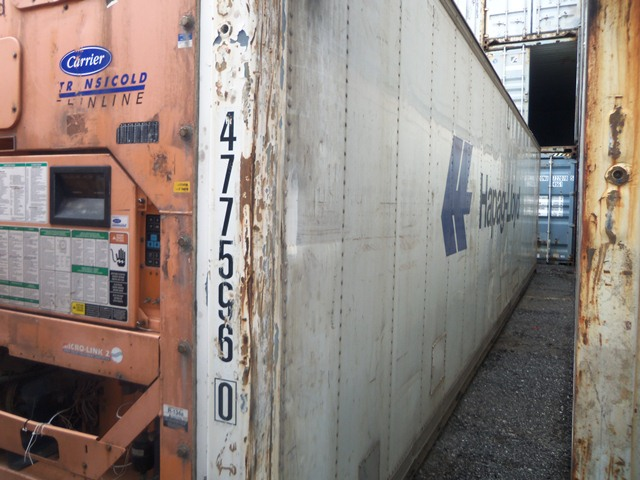40' HC refrigerated container end