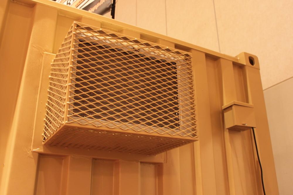 HVAC and breaker box outside