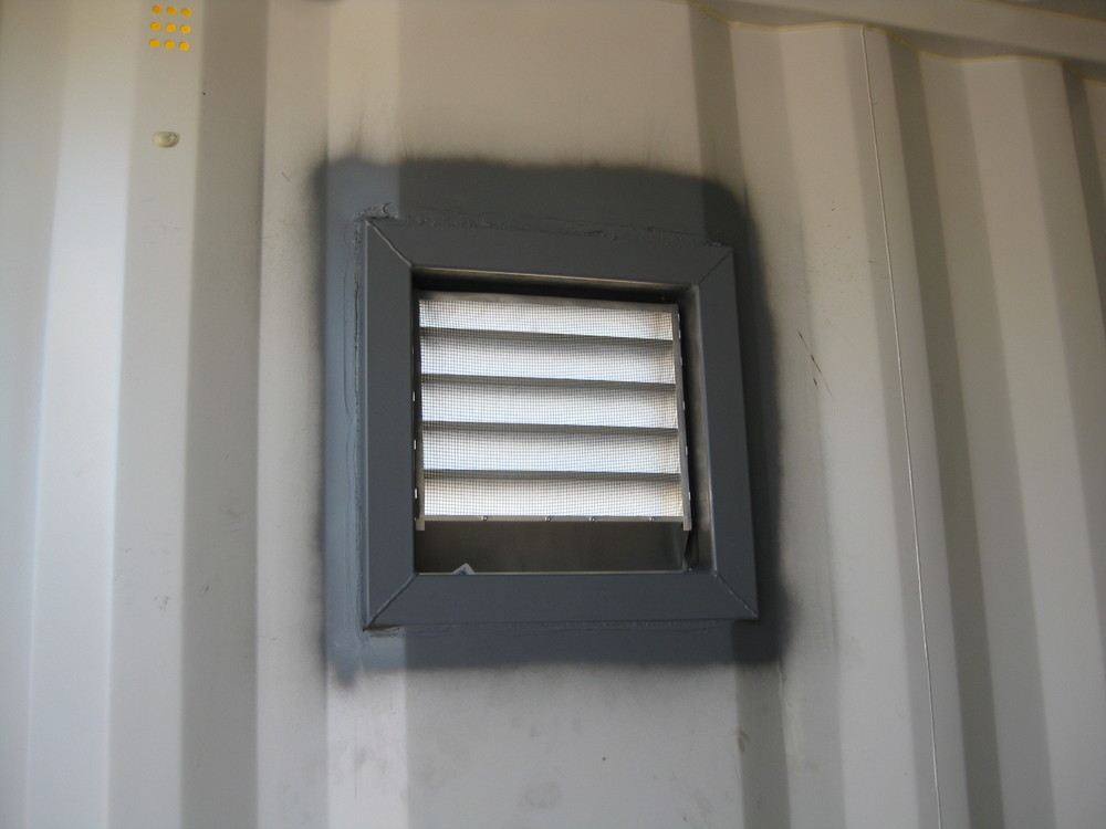 Louvered vent from inside