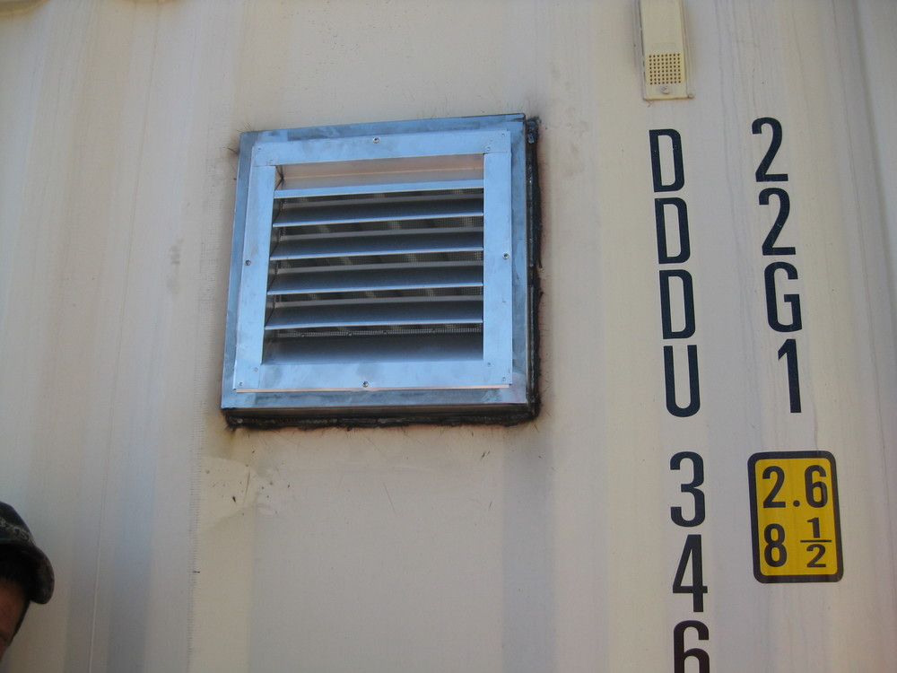 Louvered vent installed