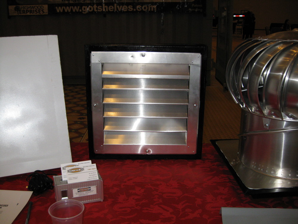 Louvered vent kit