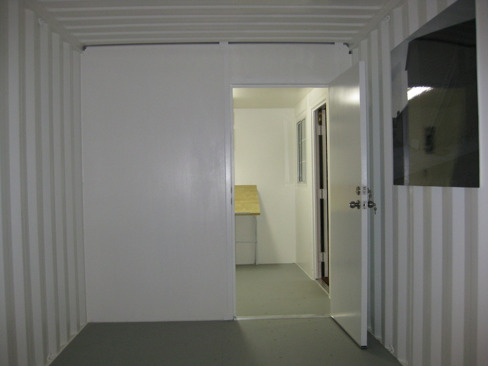 Partition with door