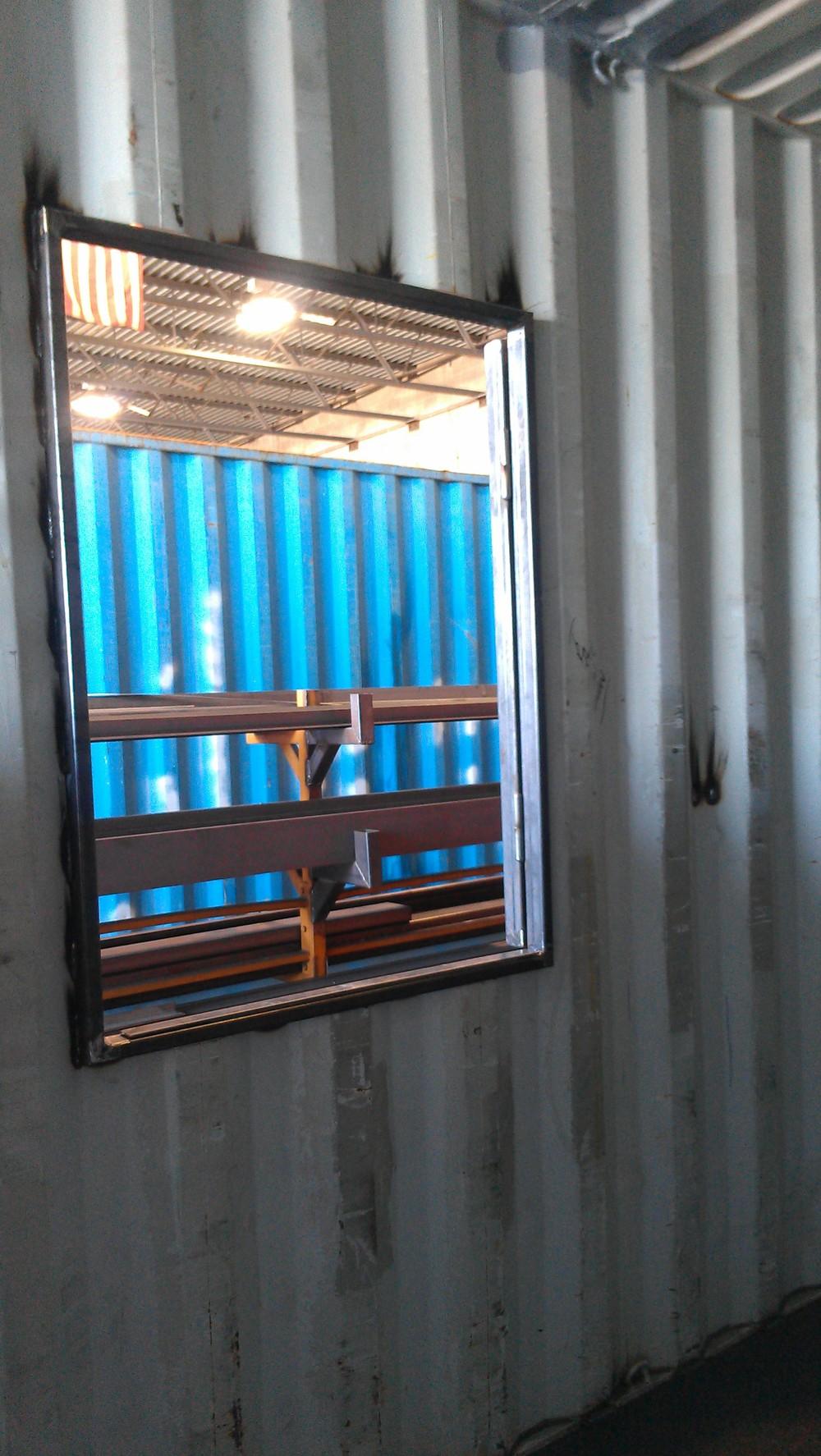Fire Training window opening