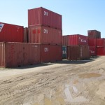 Containers at a depot
