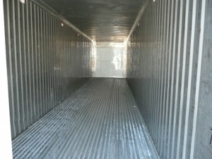 Inside refrigerated container