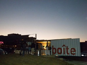 La Boite cafe at sunset
