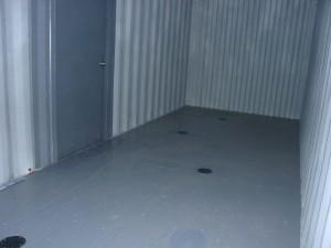 Epoxy floor with drains and service door