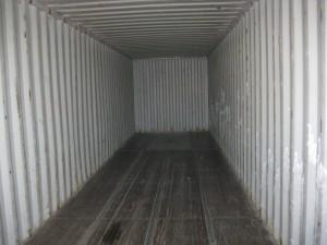 Inside used 40'