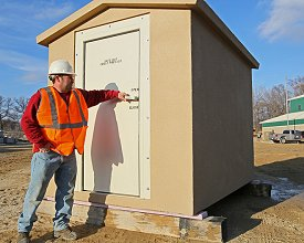 Above ground shelter from www.crestprecastconcrete.com