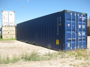 "One-trip/""new"" 40' high cube container"