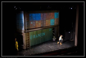 "Containers take center stage during ""The Great Immensity"" at the Kansas City Repertory Theatre"