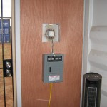 Breaker box and screen door