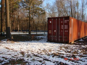 40' container provides extra storage right onsite
