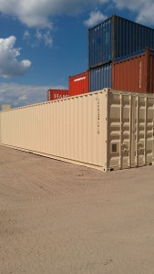 Painting not only extends the life of a container, it makes it look better