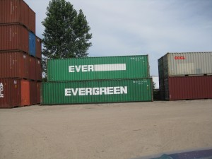 Cargo-worthy containers are inspected and have their numbers changed