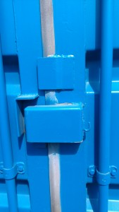 Lockbox on refurbished container