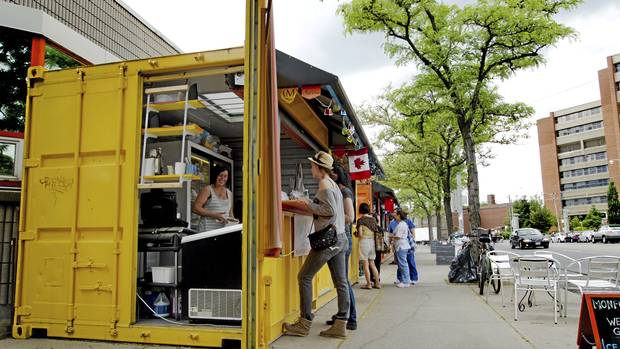Vendors sell food out of shipping containers that have been transformed into micro-stores outside of the Scadding Court Community Centre in Toronto on May ... & Check out whatu0027s popping up! Container Markets u2014 Shipping Containers ...