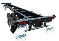 Chassis (above) and flatbeds cannot set containers on the ground
