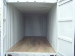A nice, dry floor to a container