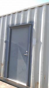 Man-door installed