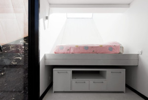 Casa Oruga's children rooms have huge skylights