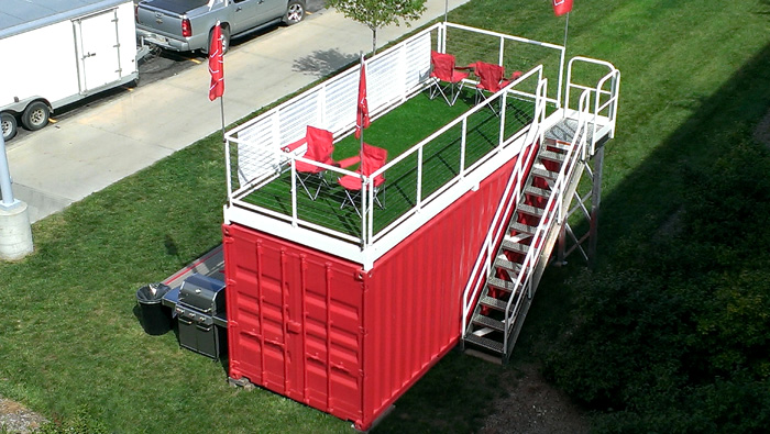 Tailgating Containers Make Their Debut u2014 Shipping Containers at a Fair Price | Super Cubes LLC 1-877-374-5452 & Tailgating Containers Make Their Debut u2014 Shipping Containers at a ...