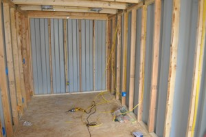 Spray Foam Insulation In A Cargo Container Shipping
