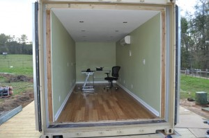 Spray Foam Insulation In A Cargo Container on pole barn homes interior