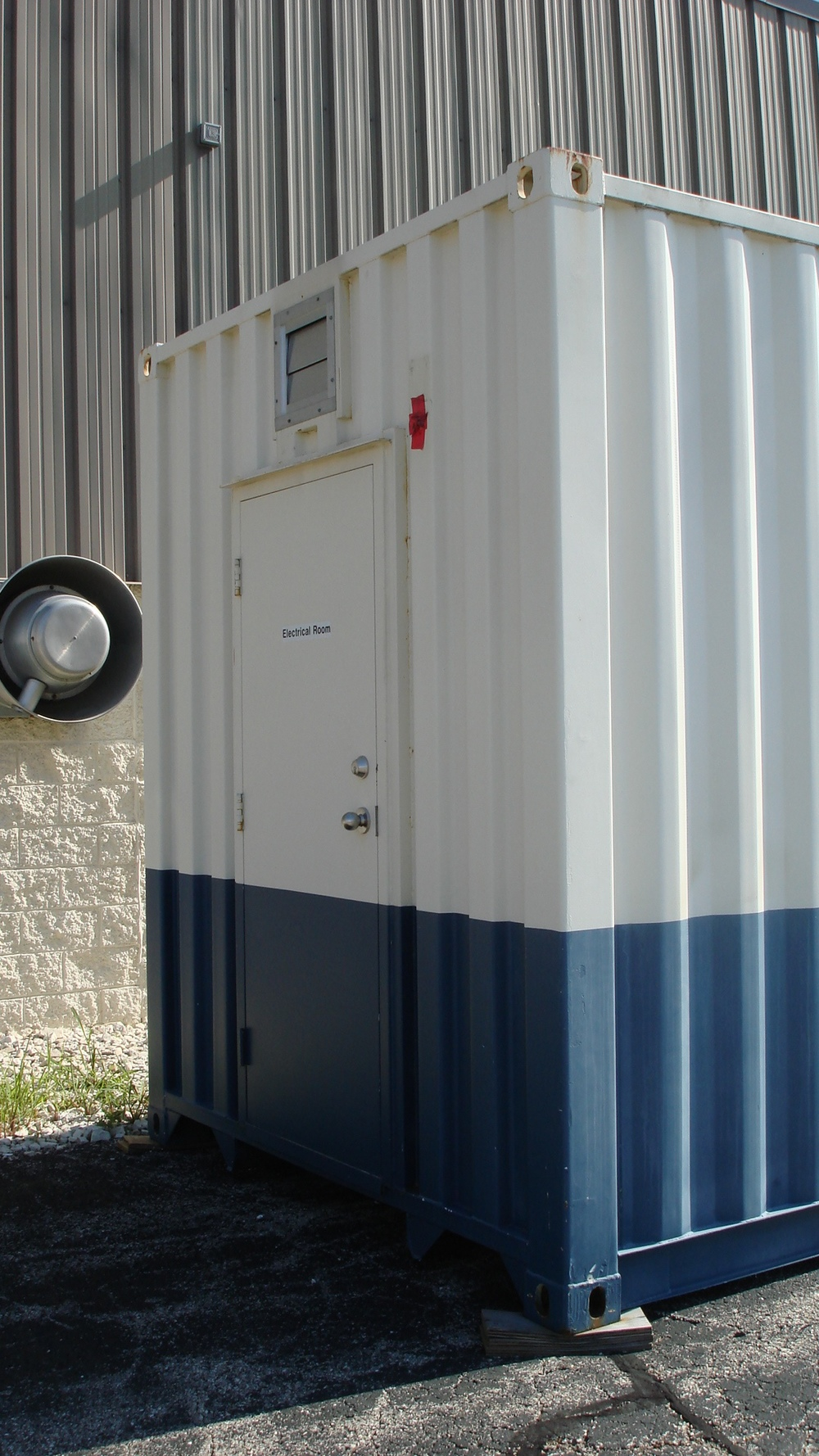Man-door access to smaller office