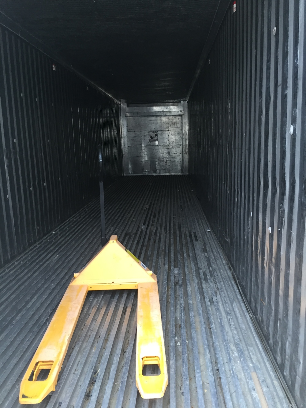 Inside of a container