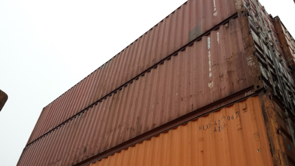 Brown 40' containers