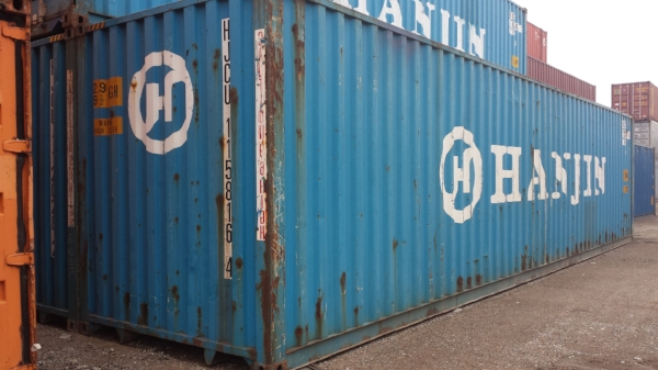 Blue 40' container