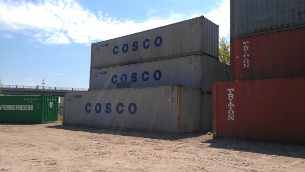 Used 40' container and 40' high cube container