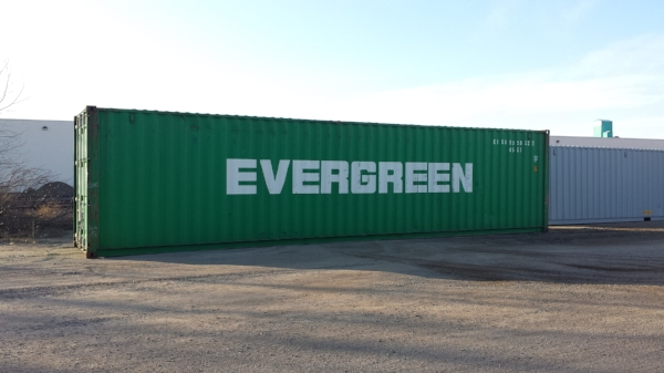 Green 40' container