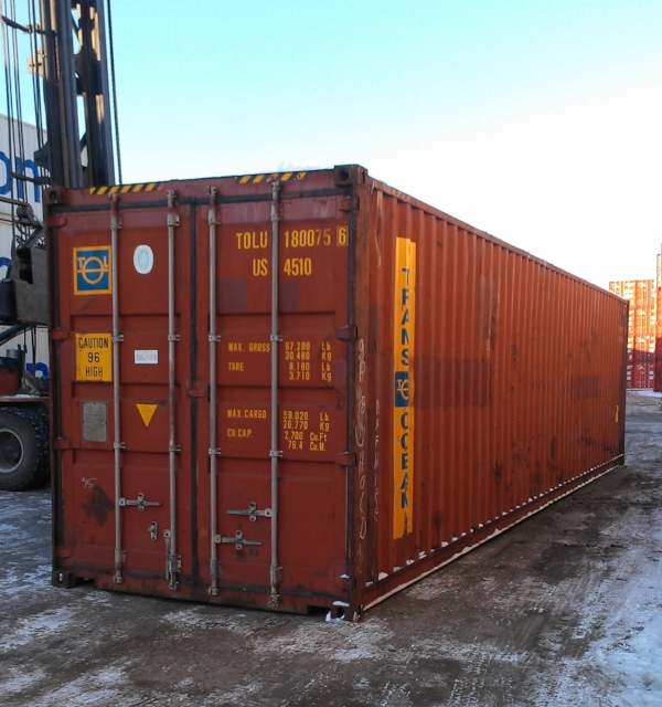 Brown 40' container